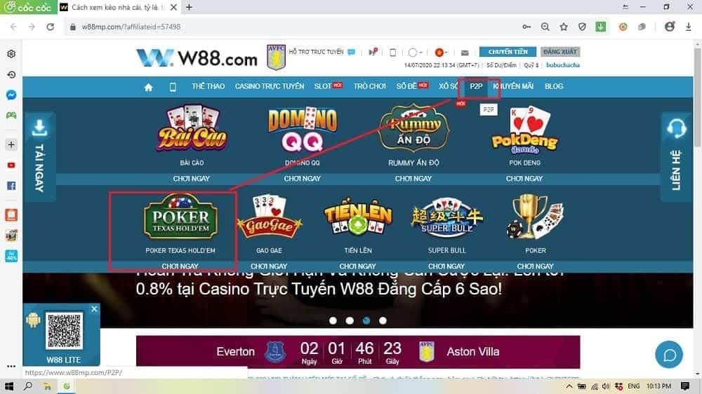 Bài poker là gì? Hướng dẫn chơi Texas Hold'em poker tại W88