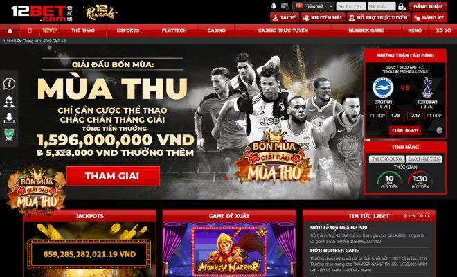 TOP 10 trang nhà cái cá cược uy tín số 1 Việt Nam và Châu Á 12bet