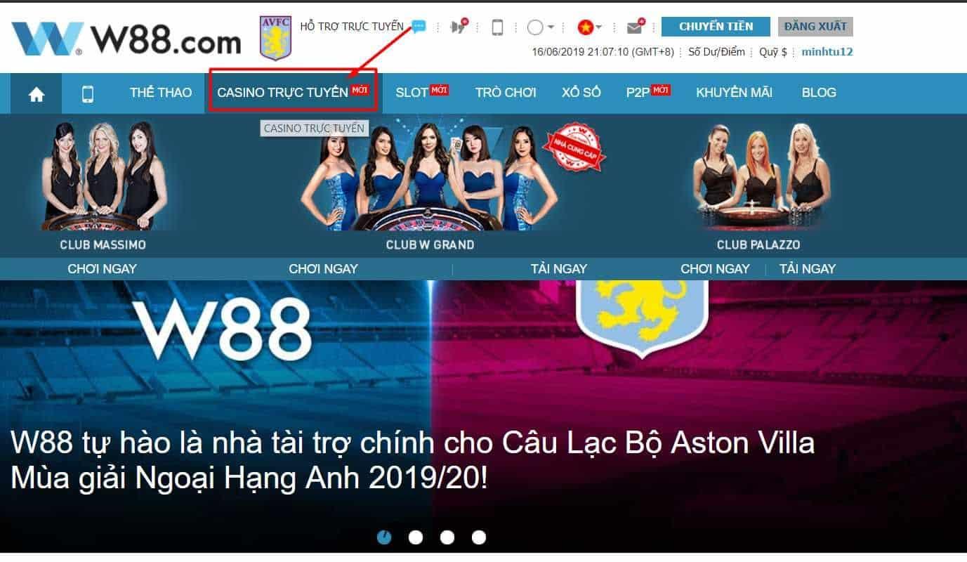 w88 casino đánh bài online ăn tiền thật