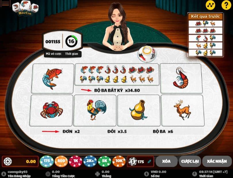 cách chơi game bầu cua tôm cá w88