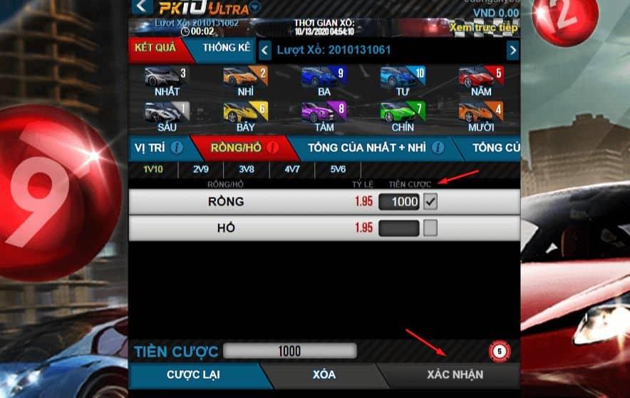 cách chơi cá cược đua xe online tại w88