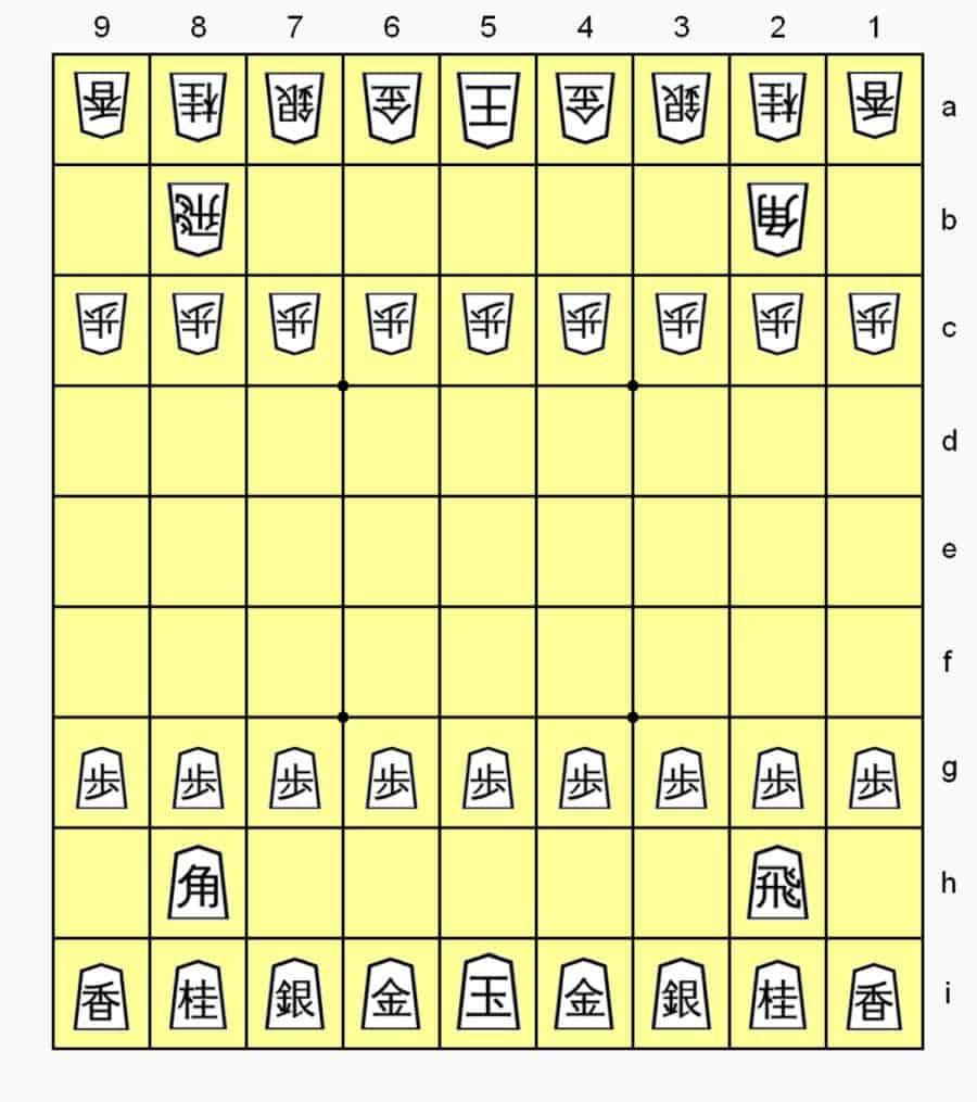 cách xếp quân cờ shogi