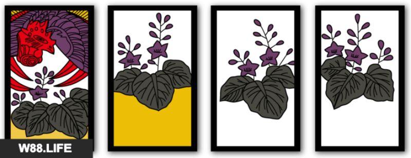 bộ bài hoa hanafuda tháng 12