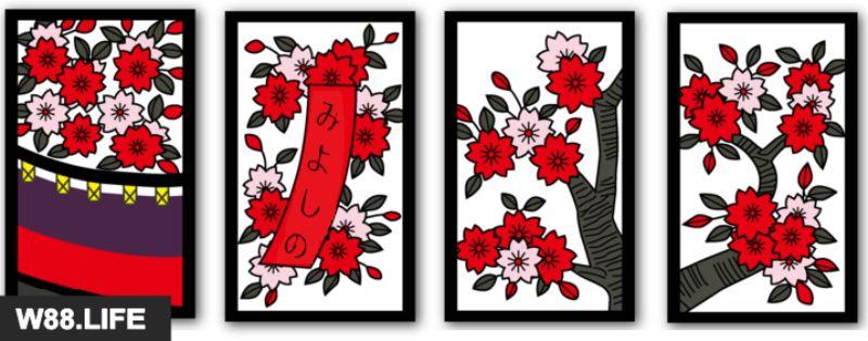 bộ bài hoa hanafuda tháng 3