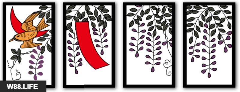 bộ bài hoa hanafuda tháng 4