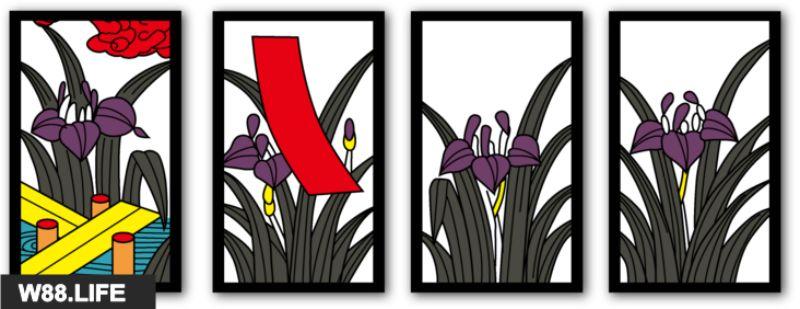 bộ bài hoa hanafuda tháng 5