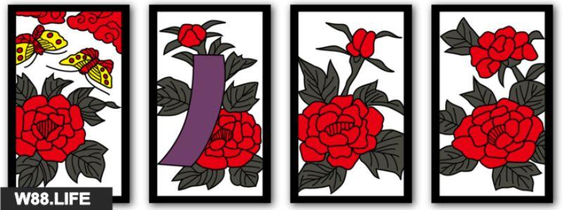 bộ bài hoa hanafuda tháng 6