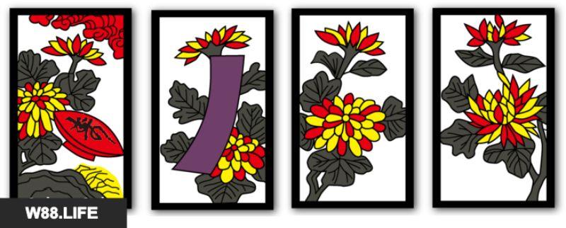 bộ bài hoa hanafuda tháng 9