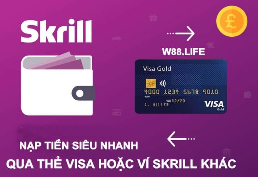 nạp tiền cho ví điện tử skrill